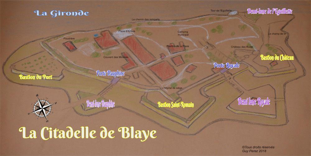 Carte de la Citadelle de Blaye